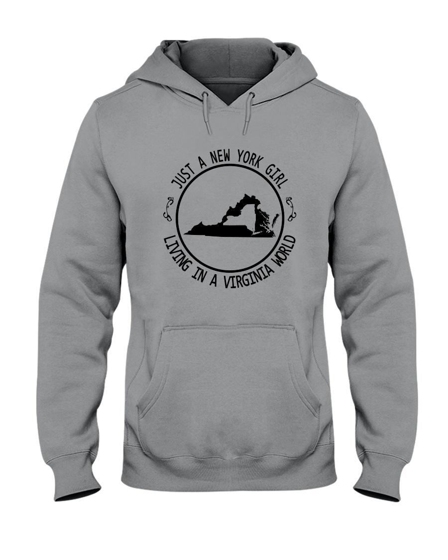 NEW YORK GIRL LIVING IN VIRGINIA WORLD Hooded Sweatshirt