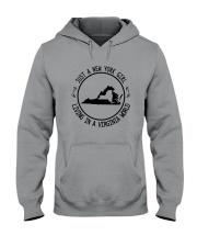 NEW YORK GIRL LIVING IN VIRGINIA WORLD Hooded Sweatshirt front