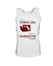 JUST A FLORIDA GIRL IN A WASHINGTON WORLD Unisex Tank thumbnail
