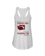 JUST A FLORIDA GIRL IN A WASHINGTON WORLD Ladies Flowy Tank thumbnail