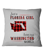 JUST A FLORIDA GIRL IN A WASHINGTON WORLD Square Pillowcase thumbnail