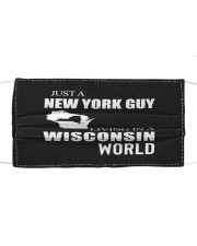 JUST A NEW YORK GUY IN A WISCONSIN WORLD Cloth face mask thumbnail