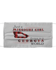JUST A MISSOURI GIRL IN A GEORGIA WORLD Cloth face mask thumbnail