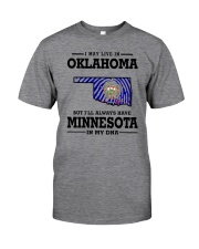 LIVE IN OKLAHOMA BUT I'LL HAVE MINNESOTA IN MY DNA Classic T-Shirt thumbnail