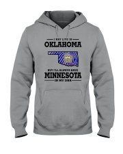 LIVE IN OKLAHOMA BUT I'LL HAVE MINNESOTA IN MY DNA Hooded Sweatshirt thumbnail