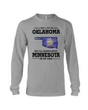 LIVE IN OKLAHOMA BUT I'LL HAVE MINNESOTA IN MY DNA Long Sleeve Tee thumbnail