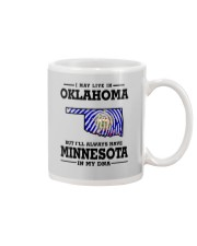 LIVE IN OKLAHOMA BUT I'LL HAVE MINNESOTA IN MY DNA Mug thumbnail