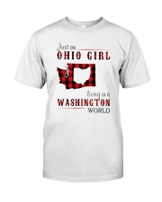 JUST AN OHIO GIRL IN A WASHINGTON WORLD Classic T-Shirt front