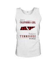 JUST A CALIFORNIA GIRL IN A TENNESSEE WORLD Unisex Tank thumbnail