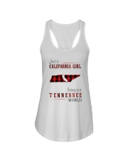 JUST A CALIFORNIA GIRL IN A TENNESSEE WORLD Ladies Flowy Tank thumbnail