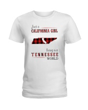 JUST A CALIFORNIA GIRL IN A TENNESSEE WORLD Ladies T-Shirt thumbnail