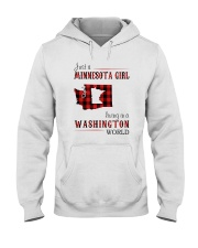 JUST A MINNESOTA GIRL IN A WASHINGTON WORLD Hooded Sweatshirt front