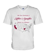 CALIFORNIA ARKANSAS THE LOVE MOTHER AND DAUGHTER V-Neck T-Shirt thumbnail