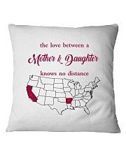 CALIFORNIA ARKANSAS THE LOVE MOTHER AND DAUGHTER Square Pillowcase thumbnail