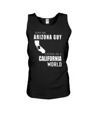 JUST AN ARIZONA GUY IN A CALIFORNIA WORLD Unisex Tank thumbnail