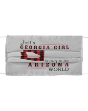 JUST A GEORGIA GIRL IN AN ARIZONA WORLD Cloth face mask thumbnail