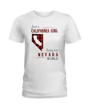 JUST A CALIFORNIA GIRL IN A NEVADA WORLD Ladies T-Shirt thumbnail