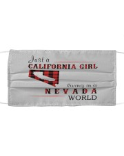 JUST A CALIFORNIA GIRL IN A NEVADA WORLD Cloth face mask thumbnail