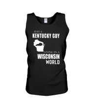 JUST A KENTUCKY GUY IN A WISCONSIN WORLD Unisex Tank thumbnail