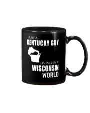 JUST A KENTUCKY GUY IN A WISCONSIN WORLD Mug thumbnail