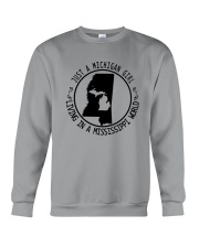 MICHIGAN GIRL LIVING IN MISSISSIPPI WORLD Crewneck Sweatshirt thumbnail