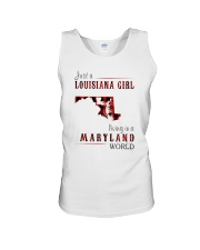 JUST A LOUISIANA GIRL IN A MARYLAND WORLD Unisex Tank thumbnail
