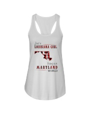 JUST A LOUISIANA GIRL IN A MARYLAND WORLD Ladies Flowy Tank thumbnail