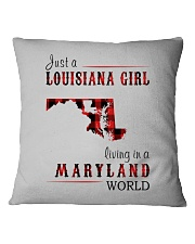 JUST A LOUISIANA GIRL IN A MARYLAND WORLD Square Pillowcase thumbnail