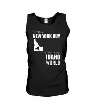 JUST A NEW YORK GUY IN AN IDAHO WORLD Unisex Tank thumbnail