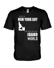 JUST A NEW YORK GUY IN AN IDAHO WORLD V-Neck T-Shirt thumbnail