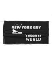 JUST A NEW YORK GUY IN AN IDAHO WORLD Cloth face mask thumbnail