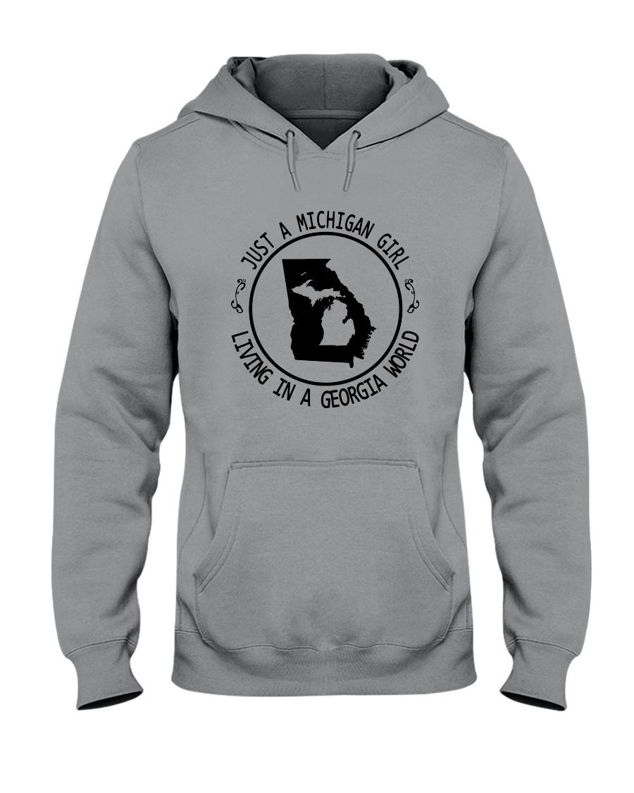 MICHIGAN GIRL LIVING IN GEORGIA WORLD Hooded Sweatshirt