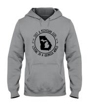 MICHIGAN GIRL LIVING IN GEORGIA WORLD Hooded Sweatshirt front