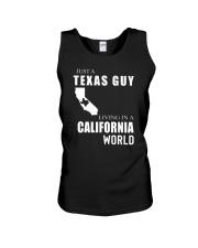 JUST A TEXAS GUY IN A CALIFORNIA WORLD Unisex Tank thumbnail