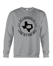 WASHINGTON GIRL LIVING IN TEXAS WORLD Crewneck Sweatshirt thumbnail