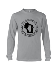 ILLINOIS GIRL LIVING IN WISCONSIN WORLD Long Sleeve Tee thumbnail