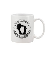 ILLINOIS GIRL LIVING IN WISCONSIN WORLD Mug tile