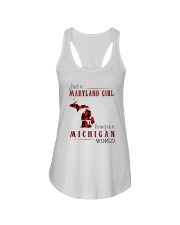 JUST A MARYLAND GIRL IN A MICHIGAN WORLD Ladies Flowy Tank thumbnail