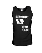 JUST A CALIFORNIA GUY IN AN IOWA WORLD Unisex Tank thumbnail