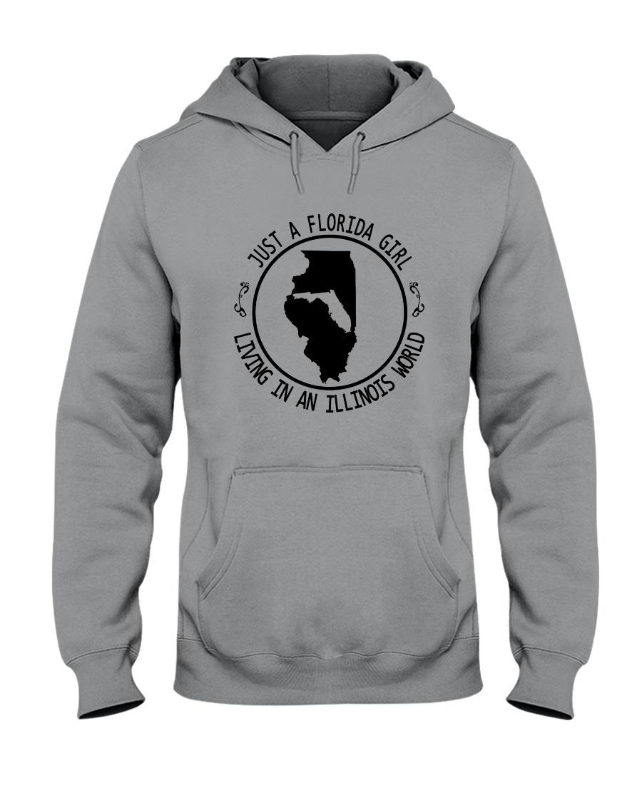 FLORIDA GIRL LIVING IN ILLINOIS WORLD Hooded Sweatshirt