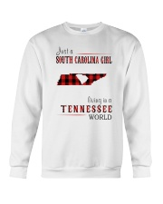JUST A SOUTH CAROLINA GIRL IN A TENNESSEE WORLD Crewneck Sweatshirt thumbnail