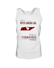 JUST A SOUTH CAROLINA GIRL IN A TENNESSEE WORLD Unisex Tank thumbnail