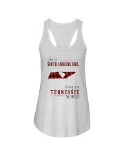 JUST A SOUTH CAROLINA GIRL IN A TENNESSEE WORLD Ladies Flowy Tank thumbnail