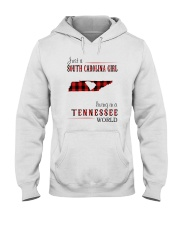 JUST A SOUTH CAROLINA GIRL IN A TENNESSEE WORLD Hooded Sweatshirt front