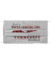 JUST A SOUTH CAROLINA GIRL IN A TENNESSEE WORLD Cloth face mask thumbnail