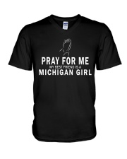 MY BEST FRIEND IS A MICHIGAN GIRL V-Neck T-Shirt tile