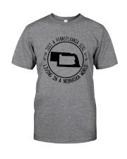 PENNSYLVANIA GIRL LIVING IN NEBRASKA WORLD Classic T-Shirt thumbnail