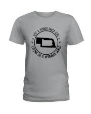PENNSYLVANIA GIRL LIVING IN NEBRASKA WORLD Ladies T-Shirt thumbnail