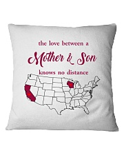 CALIFORNIA WISCONSIN THE LOVE MOTHER AND SON Square Pillowcase thumbnail