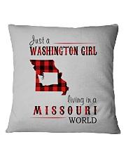 JUST A WASHINGTON GIRL IN A MISSOURI WORLD Square Pillowcase thumbnail